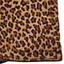 Buy John Lewis Animal Print Fleece Lined Leather Gloves, Brown Online at johnlewis.com