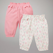Buy John Lewis Cotton Bloomers, Pack of 2, Pink/Cream Online at johnlewis.com