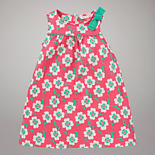 Buy John Lewis Floral Print Jersey Dress, Pink Online at johnlewis.com