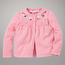 Buy John Lewis Pointelle Cardigan, Pink Online at johnlewis.com