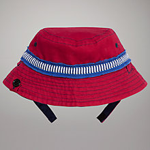 Buy John Lewis Baby Reversible Bucket Hat, Pink/Navy Online at johnlewis.com