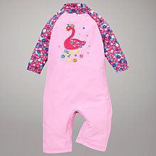 Buy John Lewis Flamingo Surf Suit with Hat, Pink Online at johnlewis.com