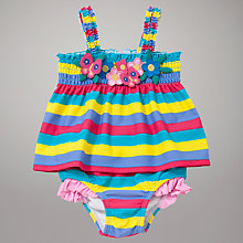 Buy John Lewis Bubble Tankini, Blue/Multi Online at johnlewis.com