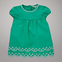 Buy John Lewis Scallop Edge Jersey Top, Green Online at johnlewis.com