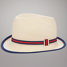 Buy John Lewis Trilby Hat, Neutral/Navy Online at johnlewis.com