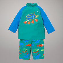 Buy John Lewis Ocean Animals Swimsuit 2 Piece, Green Online at johnlewis.com