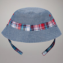 Buy John Lewis Baby Reversible Chambray Bucket Hat, Blue Online at johnlewis.com