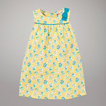 Buy John Lewis Floral Print Jersey Dress, Yellow Online at johnlewis.com