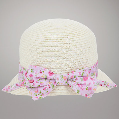 Buy John Lewis Floral Bonnet Hat, Pink/Neutral Online at johnlewis.com