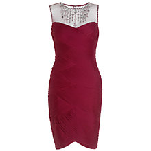 Buy Adrianna Papell Stretch Tulle Necklace Dress, Wine Online at johnlewis.com