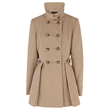 Buy Warehouse Melton Reefer Coat, Beige Online at johnlewis.com