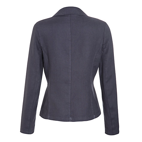 Buy John Lewis Capsule Collection Linen Jacket, Navy Online at johnlewis.com