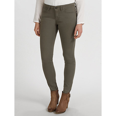 Buy Collection WEEKEND by John Lewis Twill Skinny Leg Jeans, Khaki Online at johnlewis.com