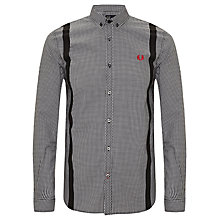 Buy Fred Perry Braces Print Check Shirt, Black Online at johnlewis.com