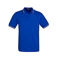 Buy Fred Perry Twin Tipped Polo Shirt, Regal Blue Online at johnlewis.com