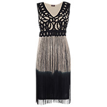 Buy Phase Eight Fay Dress, Black/Gold Online at johnlewis.com