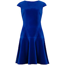 Buy Ted Baker Tinna Velvet Dress, Mid Blue Online at johnlewis.com