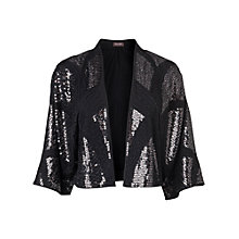Buy Phase Eight Estelle Sequin Jacket, Black Online at johnlewis.com