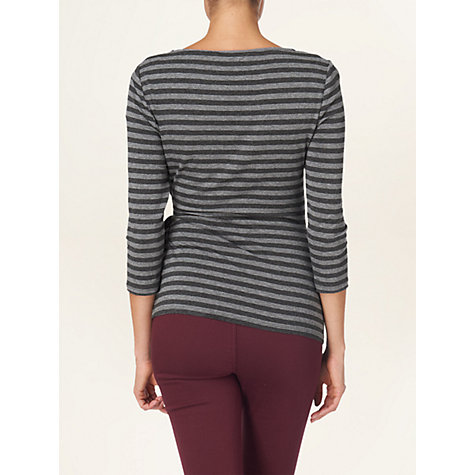 Buy Phase Eight Sabina Striped Top, Grey Marl Online at johnlewis.com