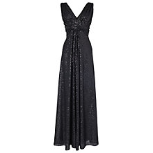 Buy Phase Eight Full Length Shimmer Dress, Black Online at johnlewis.com