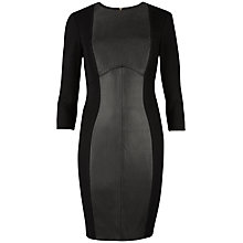 Buy Ted Baker Norrah Panel Dress, Black Online at johnlewis.com