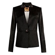 Buy Ted Baker Heeriot Fold Detail Jacket, Black Online at johnlewis.com