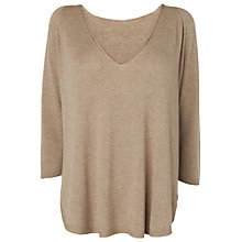 Buy Phase Eight Vivian V-Neck Jumper, Wheat Marl Online at johnlewis.com