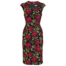 Buy Phase Eight Karenina Dress, Black/Scarlet Online at johnlewis.com