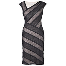 Buy Chesca Striped Sheer Lace Dress, Black Online at johnlewis.com