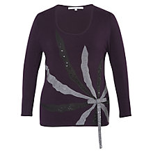 Buy Chesca Beaded Silk Spray Jumper, Grape Online at johnlewis.com