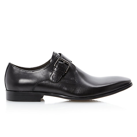 Buy Dune Anarchal Leather Monk Strap Shoes, Black Online at johnlewis.com
