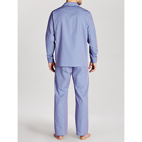 Buy Derek Rose Stripe Woven Pyjamas, Red/Blue Online at johnlewis.com