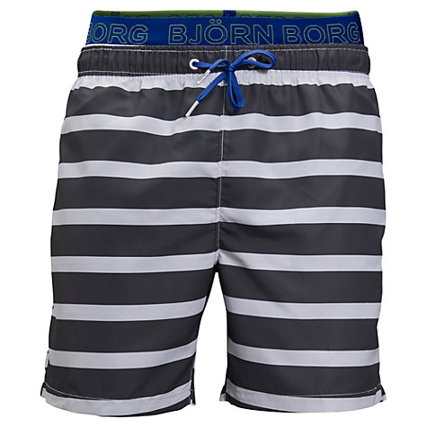 Buy Bjorn Borg Stripe High Waist Swim Shorts Online at johnlewis.com