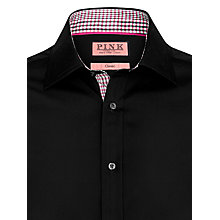 Buy Thomas Pink Harman Plain Shirt, Pink/Black Online at johnlewis.com