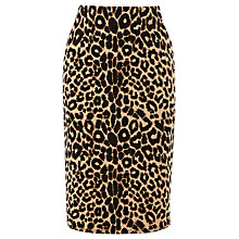 Buy Warehouse Animal Print Skirt, Brown Online at johnlewis.com