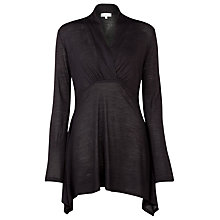 Buy Kaliko Wool Blend Tunic Top, Black Online at johnlewis.com