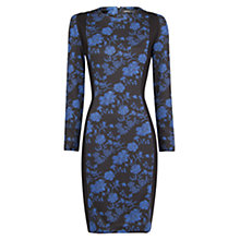 Buy Mango Floral Print Dress, Dark Blue Online at johnlewis.com
