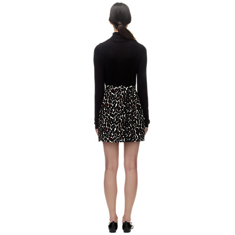 Buy Whistles Leopard Print A-Line Skirt, Multi Online at johnlewis.com