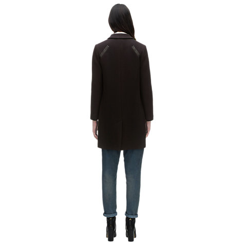 Buy Whistles Isla Minimal Overcoat, Navy Online at johnlewis.com