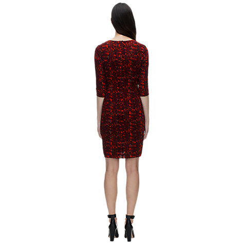 Buy Whistles Adelise Snake Print Dress, Red Online at johnlewis.com