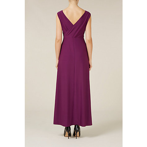 Buy Kaliko Lace Insert Maxi Dress, Purple Online at johnlewis.com