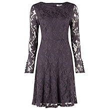 Buy Kaliko Lace Skater Dress, Charcoal Online at johnlewis.com