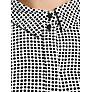 Buy Mango Print Chiffon Monochrome Shirt, Black Online at johnlewis.com