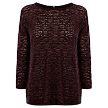 Buy Warehouse Pointelle Jumper, Dark Red Online at johnlewis.com