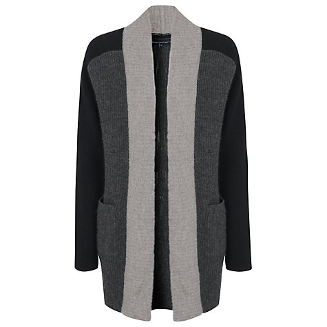 Buy French Connection David Glitz Knits Block Cardigan, Grey Online at johnlewis.com