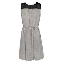 Buy Mango Geometric Print Dress, Black Online at johnlewis.com
