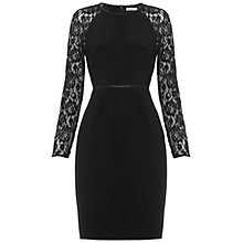 Buy Whistles Malou Lace Sleeve Dress, Black Online at johnlewis.com