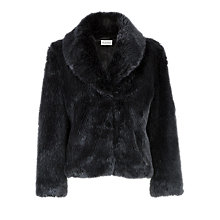 Buy Kaliko Soft Faux Fur Coat, Black Online at johnlewis.com