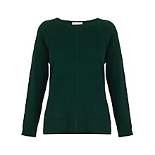 Buy Whistles Esther Cashmere Jumper, Green Online at johnlewis.com