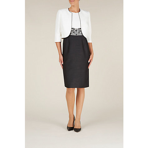 Buy Jacques Vert Contrast Bolero, Ivory Online at johnlewis.com